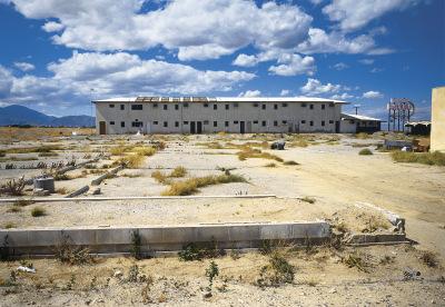Sundowner Motel, Long View, Salton Sea, California, archival ink jet print on Arches watercolour paper (22x30 inches), 1998