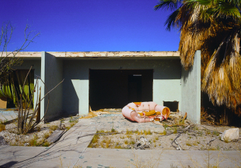 Marina Motel, Pink foam sofa, Salton Sea, California, archival ink jet print on Arches watercolour paper (22x30 inches), 1998