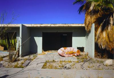 Marina Motel, Pink foam sofa, Salton Sea, California, archival ink jet print on Arches watercolour paper (22x30 inches), 1998