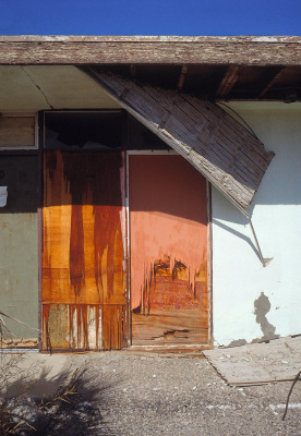Marina Motel, Torn Ceiling, Salton Sea, California, archival ink jet print on Arches watercolour paper (30x22 inches), 1998