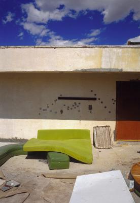 Marina Motel, Green Mattress, Salton Sea, California, archival ink jet print on Arches watercolour paper (30x22 inches), 1998