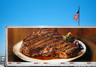 Steak, Santa Fe Springs, California, archival ink jet print on varnished canvas (40x60 inches), 2006