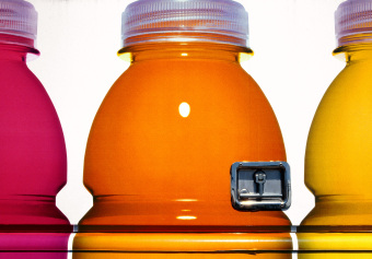 Vitamin Water, Wilshire Boulevard, Los Angeles, California, archival ink jet print on varnished canvas (40x60 inches), 2006