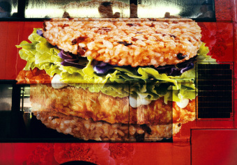 Riceburger, Gloucester Road, Hong Kong, China, archival ink jet print on varnished canvas (40x60 inches), 2006