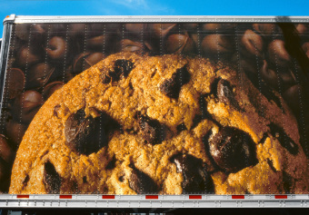 Décadent Chocolate Chip, Workman Street, Saint-Henri, Québec, archival ink jet print on varnished canvas (40x60 inches), 2005