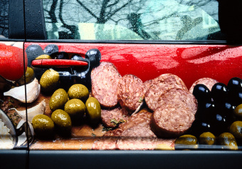 Salami, Aberdeen Avenue, Westmount, Québec, archival ink jet print on varnished canvas (40x60 inches), 2004
