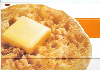 English Muffin, 3rd Avenue, New York, ink jet print on matte paper (12x16 inches), detail from Food Grid (70x220 inches), 2004