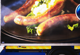 Denny Bangers, Gas Station, Dingle, Ireland, ink jet print on matte paper (12x16 inches), detail from Food Grid (70x220 inches), 2006