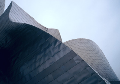 Guggenheim Bilbao No 4, Bilbao, Spain,  archival ink jet print on Arches watercolour paper (26x41 inches), 1998
