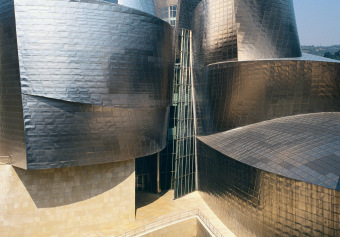 Guggenheim Bilbao No 2, Bilbao, Spain, archival ink jet print on Arches watercolour paper (41x26 inches), 1998