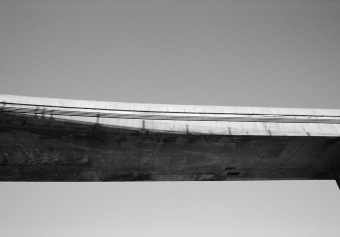 Overpass No 2, Turcot Interchange, Montréal, archival ink jet print on tyvek (40x76 inches), 2001