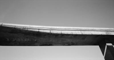 Overpass No 2, Turcot Interchange, Montréal, archival ink jet print on tyvek (40x76 inches), 2001