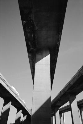 Overpass No 3, Turcot Interchange, Montréal, archival ink jet print on tyvek (60x40 inches). 2001
