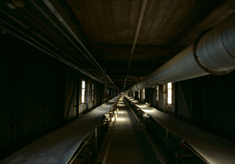 Untitled 16, Montréal, Silo No5,  archival ink jet print on tyvek stretched on frame (40x60 inches), 2000–2002