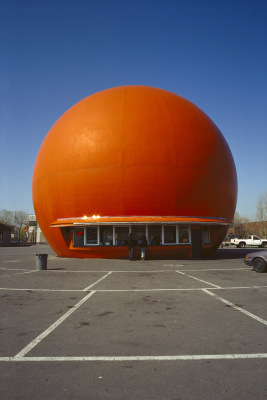 Gibeau Orange Julep, Décarie Boulevard, Montréal, archival ink jet print on tyvek (41x26 inches), 1996