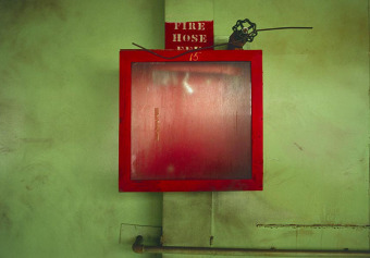Fire Hose, from the Zone series, Montréal, archival ink jet print on Arches paper (22x30 inches), 1997