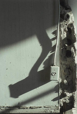 Plug, from the Zone series, Montréal, archival ink jet print on Arches paper (41x26 inches), 1997