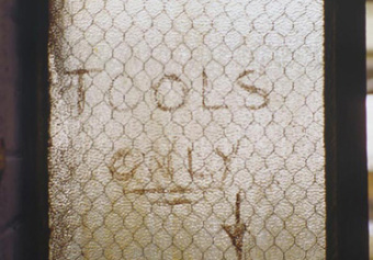 Tools Only, from the Zone series, Montréal, archival ink jet print on Arches paper (41x26 inches), 1997