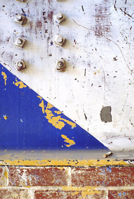 Steel girder with cigarette, from the Zone series, Montréal, archival ink jet print on Arches paper (41x26 inches), 1997